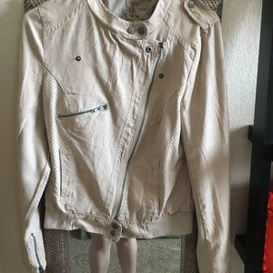 Jackets & Blazers - Faux tan suade jacket
